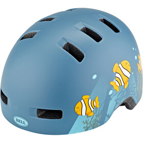 Bell Lil Ripper Casco Bambino, matte gray/blue fish